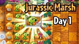 getlinkyoutube.com-Plants vs Zombies 2 - Jurassic Marsh Day 1: Primal Peashooter