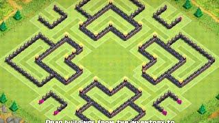 getlinkyoutube.com-TH10 Trophy Base (After Update - 275 Walls) - Clash Of Clans