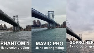 DJI Mavic Pro vs. Phantom 4 vs. GoPro Karma im direkten 4K-Video Vergleich