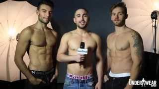 getlinkyoutube.com-Three Men in Underwear Answer Boxers or Briefs