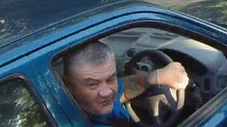 getlinkyoutube.com-Mobile Phone User Swears and Steers at Cyclist - Road Rage