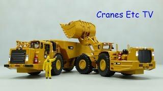 Diecast Masters Caterpillar Underground Machines R3000H / AD60 by Cranes Etc TV