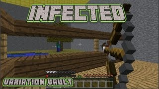 getlinkyoutube.com-Minecraft Bukkit Plugin - Infected - Zombies on minecraft!