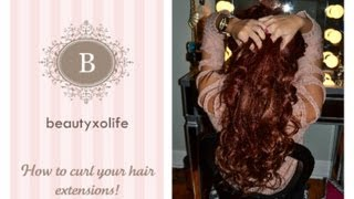 how to curl your bellami hair extensions!