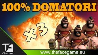 getlinkyoutube.com-100% con 3 DOMATORI !! --Clash of Clans ITA--