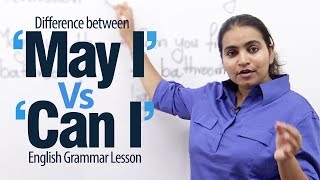 "getlinkyoutube.com-Using ""May I' Vs 'Can I' - English Grammar Lesson"