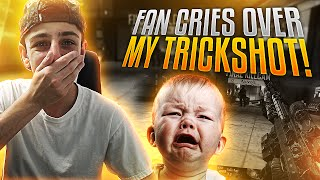 FAN CRIES OVER MY TRICKSHOT!!
