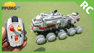 getlinkyoutube.com-LEGO Star Wars 75151 RC motorized Clone Turbo Tank by 뿡대디