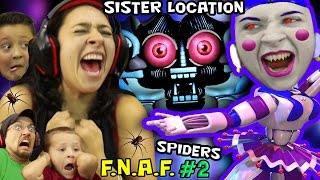 getlinkyoutube.com-KILLER BALLERINA Scares MOM! FNAF SISTER LOCATION #2 w/ REAL SPIDERS (FGTEEV SCARY Ballora Gameplay)