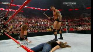 getlinkyoutube.com-Randy Orton DDT's Stephanie Mcmahon