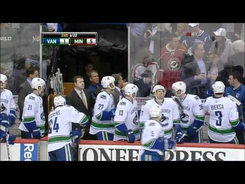 Rick Rypien Attacks Minnesota Wild Fan And Cheap Shots a Player