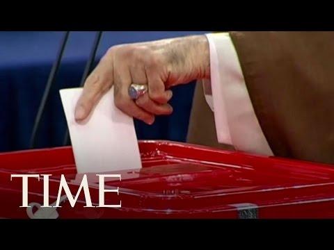 Iran's Supreme Leader Ayatollah Ali Khamenei Casts Vote In Iranian Presidential Election | TIME
