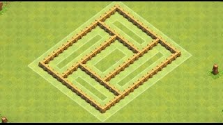 getlinkyoutube.com-Clash Of Clans Town Hall 5 Troll / trophy base ! trolling Th5 Base + replays