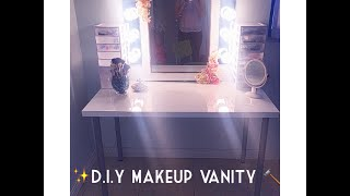 getlinkyoutube.com-D.I.Y Makeup Vanity ( BUDGET FRIENDLY) | Monica Ferraro