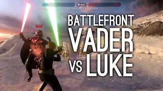getlinkyoutube.com-Star Wars Battlefront: Darth Vader vs Luke Skywalker - LIGHTSABER BATTLE