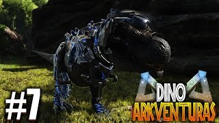 DANDO UNA VUELTA CON MI SUPER POWER RANGER REX NO FAKE | DinoArkventuras #7 | Ark: Survival Evolved