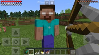 getlinkyoutube.com-FIGHTING HEROBRINE in Minecraft Pocket Edition (Minecraft PE Herobrine Boss Battle Mod)