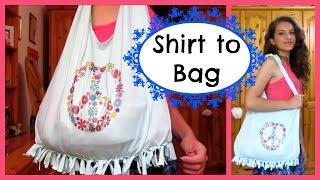 getlinkyoutube.com-Shirt to Bag DIY   No sew