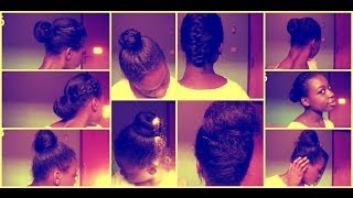 getlinkyoutube.com-9 Everyday Protective Hairstyles(Relaxed/Texlaxed&Natural Hair)