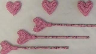 getlinkyoutube.com-كروشيه قلب  بالحشوة Crochet Amigurumi Heart