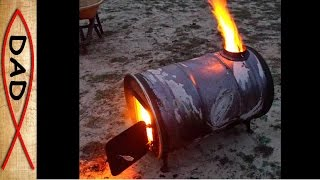 Flames from every hole - another barrel stove kit