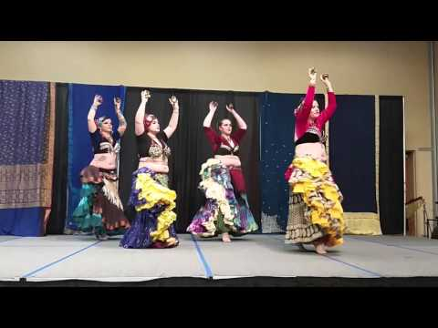 Blue Amber ATS Belly Dance - Sultana Hafla March 2016
