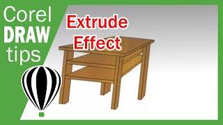 getlinkyoutube.com-Extrude in CorelDraw