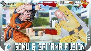 getlinkyoutube.com-Goku and Saitama (One Punch Man) Fusion: Gokama! VS Shenron Z Warrior | Dragon Ball Xenoverse MOD