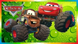 getlinkyoutube.com-CARS - Mater National Championship - Hook International - Monstertruck - The Lightning McQueen