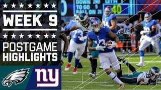 getlinkyoutube.com-Eagles vs. Giants (Week 9) | Game Highlights | NFL