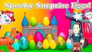 getlinkyoutube.com-SPOOKY SURPRISE EGGS Scooby DOO + Paw Patrol + Peppa Pig Spooky Candy and Toys  Video