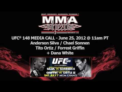 UFC 148: Anderson Silva vs Chael Sonnen II Pre-Fight Media Call (broadcast LIVE 6/25/12)