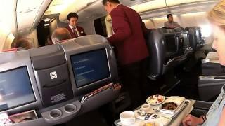 getlinkyoutube.com-YANGON BANGKOK A330 300 THAI AIRWAYS BUSINESS CLASS 080414