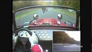 getlinkyoutube.com-Caterham R500 Vs 996 GT2 - Nurburgring battle lap2