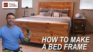 getlinkyoutube.com-How to Make a Bed Frame with Free Queen Size Bed Frame Plans