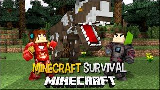 getlinkyoutube.com-Minecraft Survival Ep.133 -Homens De Ferro contra Dinossauro !!