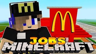 Minecraft Jobs-Little Carly Adventures-WORKING IN MCDONALDS w/Little Kelly.