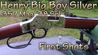 getlinkyoutube.com-Henry Big Boy Silver .357 Magnum/.38 Special - First Shots