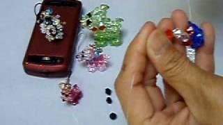 getlinkyoutube.com-Crystal Dog (1 of 2): Swarovski crystal bead weaving