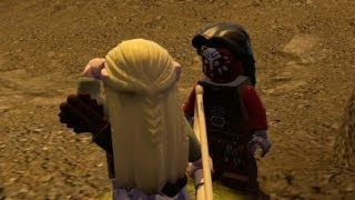 getlinkyoutube.com-LEGO Lord of the Rings 100% Overworld Guide #5 - Helm's Deep (All Collectibles)