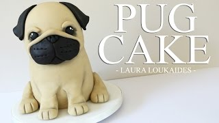 getlinkyoutube.com-How to make a 3D Pug Cake - Laura Loukaides