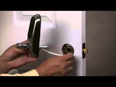 Yale Real Living Lever Lock Installation - Installing the Exterior Keypad Escutcheon 02