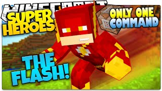 getlinkyoutube.com-Minecraft | How To Be A Superhero! | THE FLASH! | Only One Command (One Command Creation)