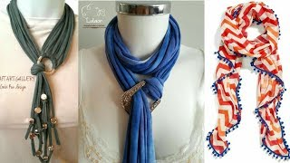 Latest Stole and Scarf Designs for Girls 2018 width=
