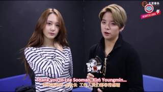 getlinkyoutube.com-[HeartfxSubs] 151110 f(x) Amber & Krystal - THE SHOW Backstage Acceptance Speech (eng)