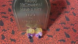 getlinkyoutube.com-【UVレジン】Halloweenカボチャのピアス作るよ resin♪