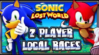 getlinkyoutube.com-Sonic Lost World Wii U -  (1080p) 2 Player Local Races
