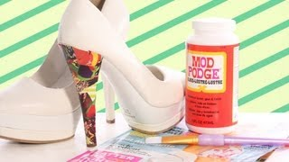 getlinkyoutube.com-How to Mod Podge Your Shoes