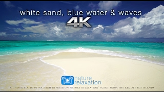 getlinkyoutube.com-White Sand, Blue Water & Waves [4K UHD] 2 Hours - Fiji Islands - Nature Relaxation™