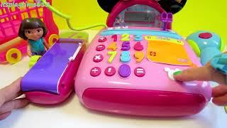getlinkyoutube.com-Minnie's Electronic Cash Register Minnie Mouse BowTique Dora the Explorer Play-Doh